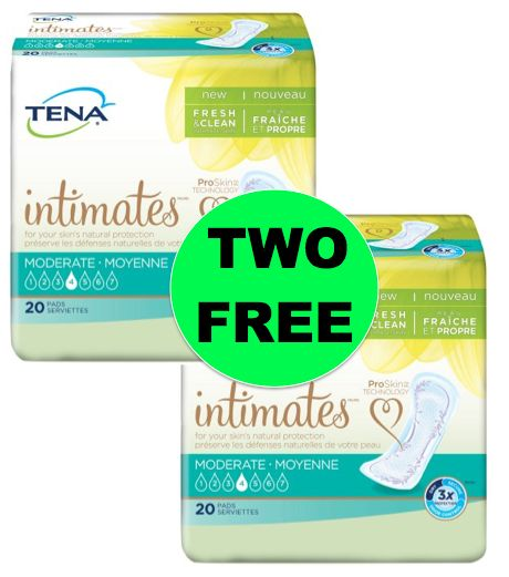 TWO (2!) FREE Tena Intimates Pads at Walmart! ~Right Now!