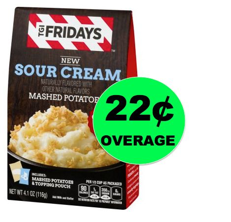 FREE TGI Fridays Mashed Potatoes + 22¢ Overage at Walmart {No Coupon Needed}! ~Right Now!