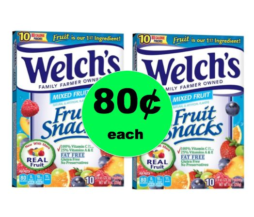 Cheap 'n Easy After School Snack! Get 80¢ Welch's Fruit Snacks at Target! ~Ends Wednesday!