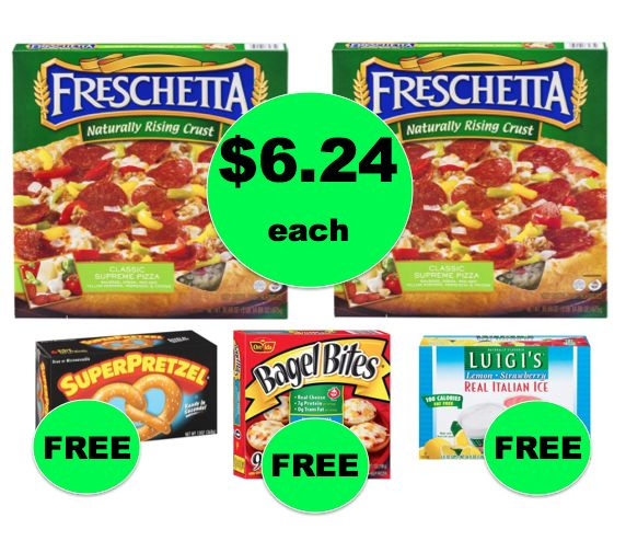 Winn Dixie Meal Deal: Buy TWO (2!) Freschetta Pizzas for $12.48, Get Soft Pretzels, Bagel Bites & Italian Ice FREE! (9/20 – 9/26)