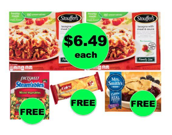 Winn Dixie Meal Deal: Buy TWO (2!) Stouffer's Family Size Lasagna for $12.98, Get Veggies, Bread, & Cobbler FREE! (9/6 – 9/12)