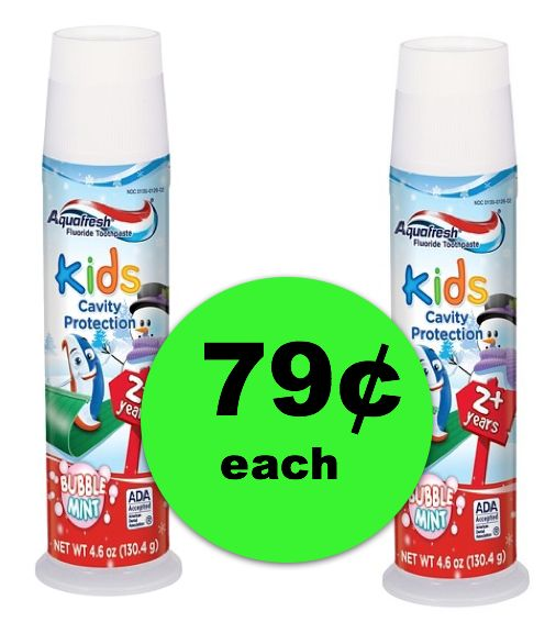Stock Up on Toothpaste For the Kiddies!! Get Aquafresh For ONLY 79¢ Each at Publix!! ~ Ends Friday!