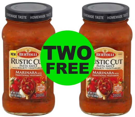 Ready for Pasta Night?! TWO (2!) FREE Bertolli Rustic Cut Marinara at Publix!~ Ad Starts Today!