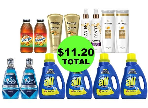 For Only $11.20 TOTAL, Get (2) Drinks, (2) Mouthwashes, (4) Laundry Products & (6) Hair Care This Week at CVS!