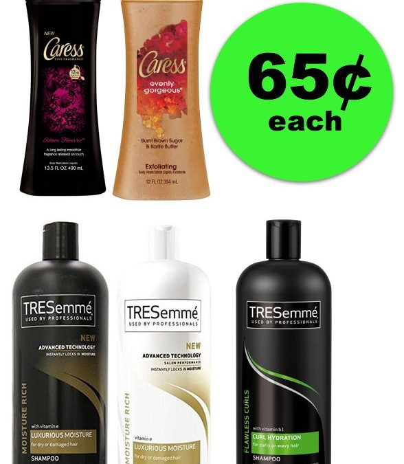 Plan a Spa Day! You'll Need (2) Caress Body Washes & (3) Tresemme Hair Care For ONLY 65¢ Each at Publix ~ Ends Tues/Weds!