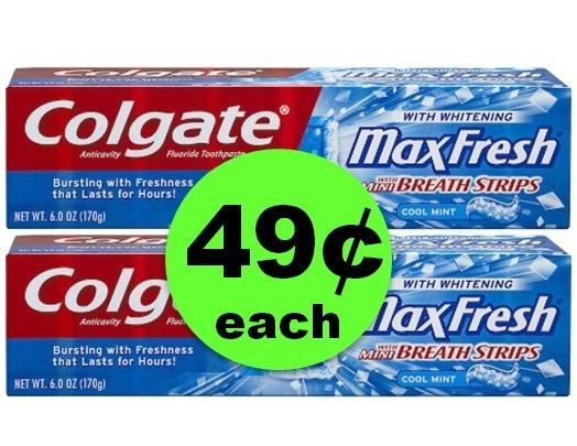 Pick Up TWO (2!) Colgate Toothpastes ONLY 49¢ Each at CVS! ~ This Week Only!