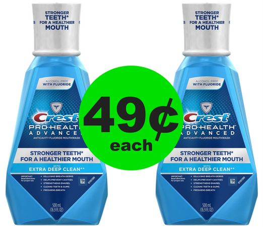 Crest Pro-Health Advanced Mouthwash 49¢ Each at CVS! ~ Starting Sunday!