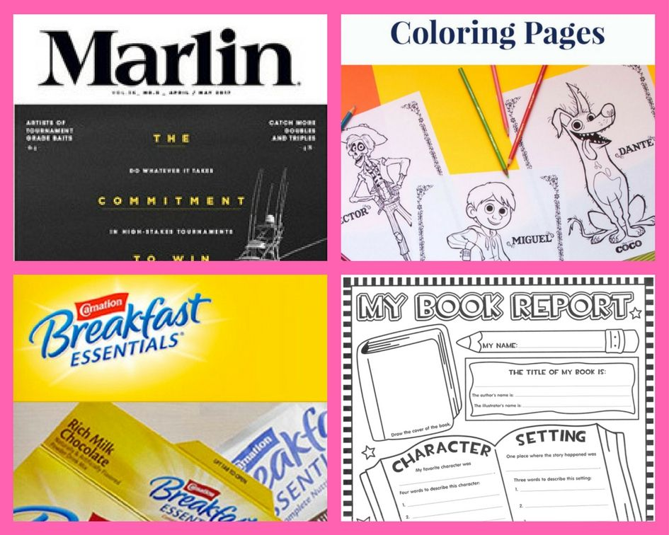 Four 4 freebies annual subscription to marlin magazine Coloring book subscription