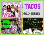 FOUR (4!) FREEbies:  One-Year Subscription to Seventeen Magazine, TacoBell Tacos, Better Bean Product and Halloween Color-By-Number Printable!