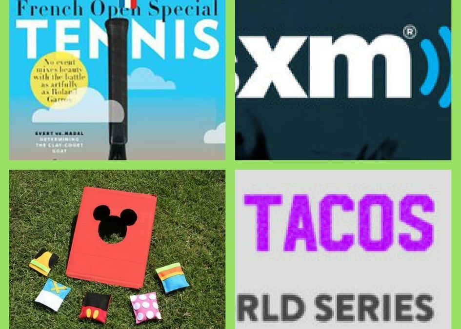 FOUR (4!) FREEbies: Annual Subscription to Tennis Magazine, SiriusXM Web Streaming, Mickey & Friends Bean Bag Toss and Doritos Locos Tacos!