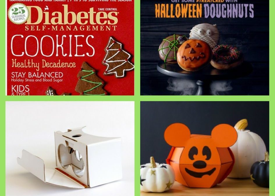 FOUR (4!) FREEbies: Annual Subscription to Diabetes Self-Management Magazine, Halloween Donut, Cardboard VR Viewer and Disney FREE Halloween Printables!