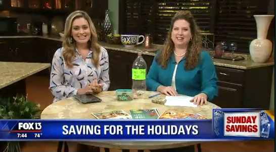 {Video Replay} Fox 13 Savings Segment ~ How to Find $200 for Your Christmas Fund This Weekend!