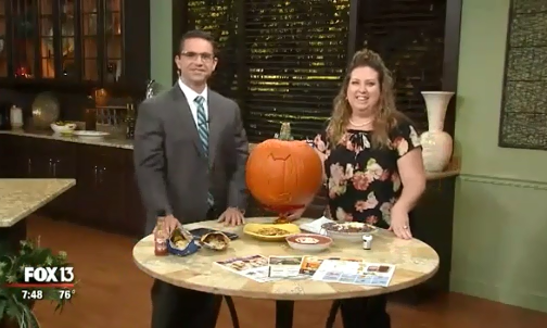{Video Replay} Fox 13 Savings Segment ~ Fast & Frugal Halloween Dinner Ideas!