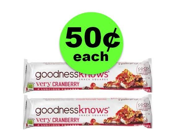 Snack Away on 50¢ Goodnesss Knows Snack Bars at CVS! ~ Right Now!