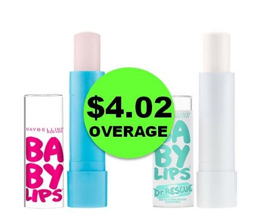 Print NOW! TWO (2!) FREE + $4.02 OVERAGE on Maybelline Baby Lips Lip Balm at CVS! ~ This Week Only!