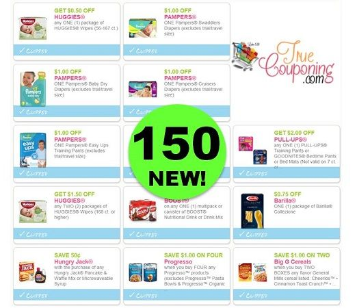 PRINT the One Hundred Fifty (150!) NEW & Reset Coupons That Came Out This Weekend!
