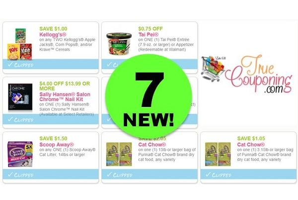 Print the SEVEN (7!) **NEW** Coupons Out Today for Kellogg's, Sally Hansen, Cat Chow & More!