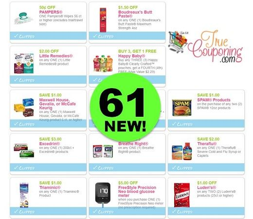 Sixty-One (61!) **NEW** Coupons Came Out This Weekend! ~ PRINT NOW!