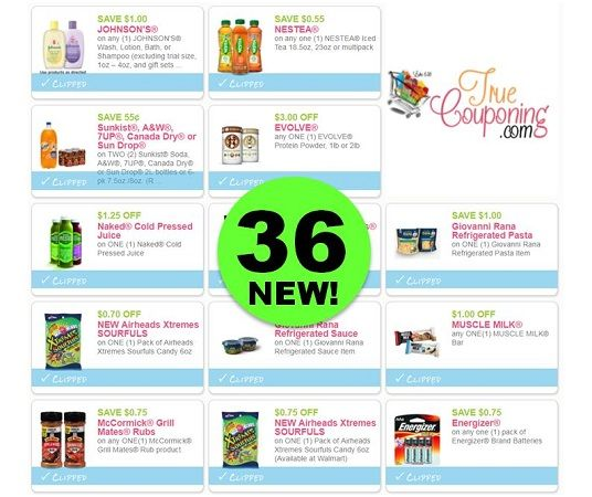 SAVE BIG with the Thirty-Six (36!) **NEW** Coupons That Came Out This Weekend!