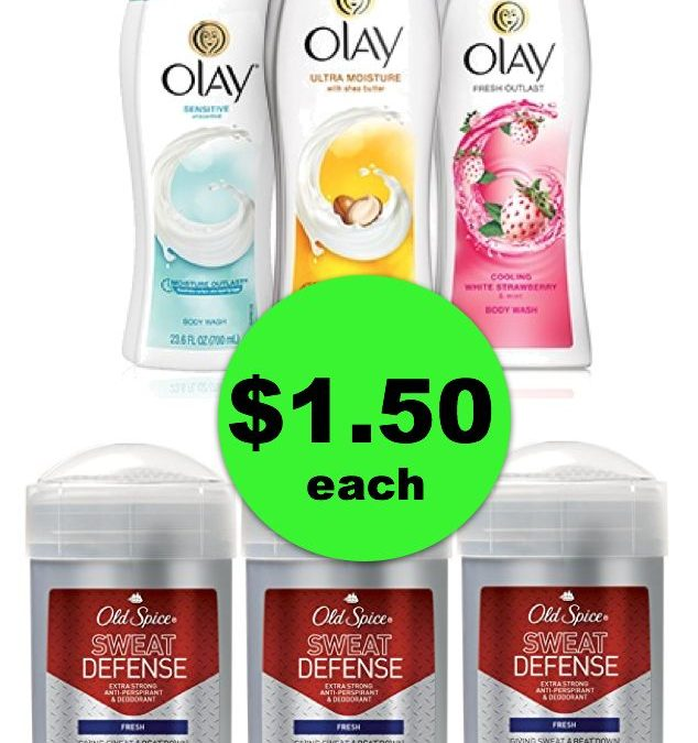 Make Room in the Linen Closet! Pick Up (3) Olay Body Washes & (3) Old Spice Deodorants For ONLY $1.50 Each! ~ Ends Tues/Weds!