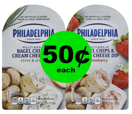 Fox Deal of the Week! Philadelphia Bagel Chips & Cream Cheese Dips ONLY 50¢!!