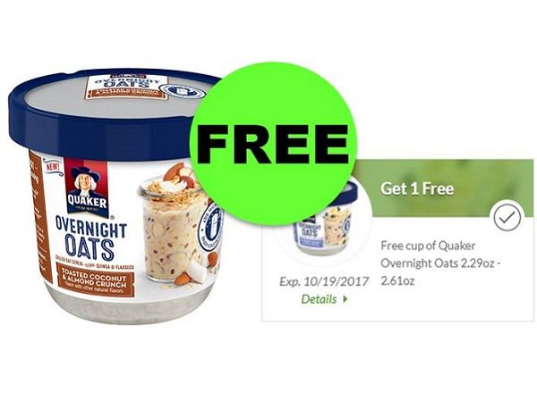 """FREE Quaker Overnight Oats With Digital Coupon at Publix! ~ """"CLIP"""" NOW!"""