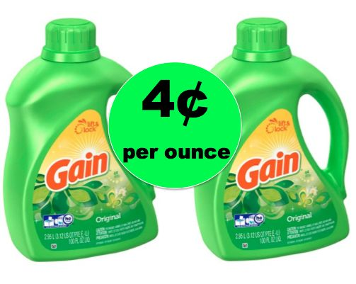 Hot Laundry Deal! Pick Up Gain Detergent 100 Oz Bottles ONLY 4¢ per Ounce at Target! ~Ends Saturday!