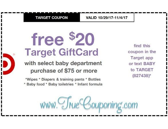 *Heads Up* This Sunday (10/29/17) We're Getting a FREE $5 GC wyb $20 Pepsi AND a FREE $20 GC wyb $75 Baby Target Coupon!