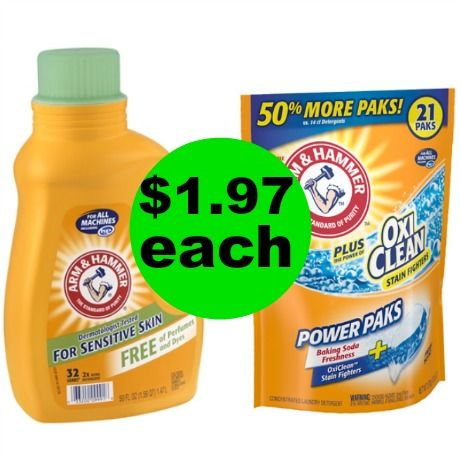 Add to Your Stash! Arm & Hammer Laundry Detergent Only $1.97 Each at Walgreens {No Coupons Needed}! ~ Starts Sunday!