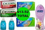 Don't Miss the Over $31 Worth of Excedrin, Softsoap Body Wash, Dawn Dish Liquid & Ziploc Products You Get This Week at Walgreens for Only $13.52!