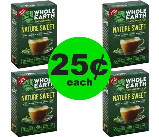 Don't Miss Your $.25 Whole Earth Sweetener {40ct Box!} at Publix~ Ends Friday!