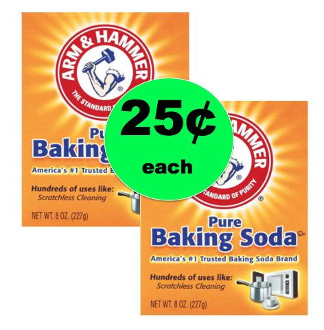 Super Versatile Arm & Hammer Baking Soda ONLY 25¢ Each at Walmart!