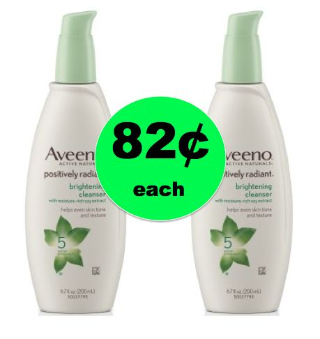 Great Skin Needs Aveeno Positively Radiant Brightening Cleanser ONLY 82¢ Each at Walmart! ~Right Now!