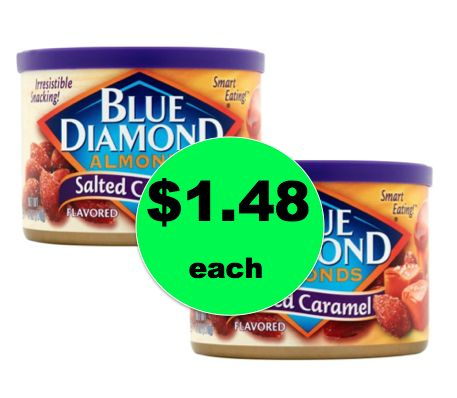 Pick Up TWO (2!) Cans of Blue Diamond Almonds ONLY $1.48 Each at Walgreens! ~Right Now!