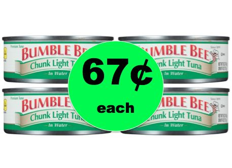 Major Pantry Staple! Pick Up Bumble Bee Chunk Light Tuna ONLY 67¢ Each at Target! ~Right Now!