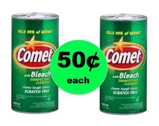 Keep It Clean with Comet Cleanser ONLY 50¢ Each at Walgreens {NO Coupon Needed}! ~ Right Now!