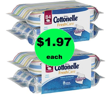 Freshen Up with Cottonelle Cleansing Cloths ONLY $1.97 Each at Walgreens! ~Going On Now!