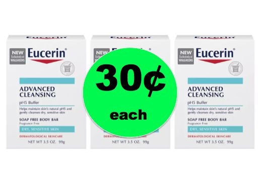 Save Over 90% on Eucerin Advanced Body Bars ONLY 30¢ Each at Walgreens! ~ Right Now!