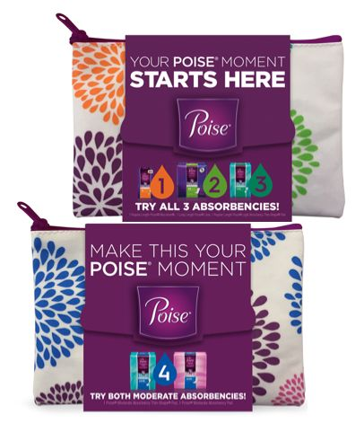 FREE Poise Pads with Zippered Bag! {Get It for the Bag!}