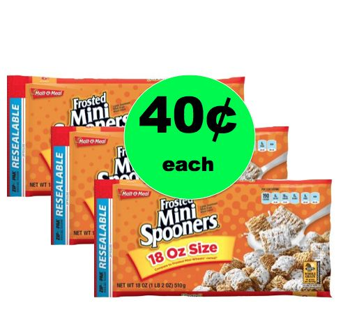 Cereal Stock Up! Get THREE (3!) Malt-O-Meal Mini Spooners Cereal ONLY 40¢ Each at Walmart! ~Right Now!