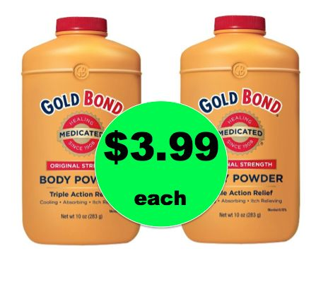 Pick Up Gold Bond Medicated Powder BIG Bottles ONLY $3.99 Each at Target! ~Right Now!