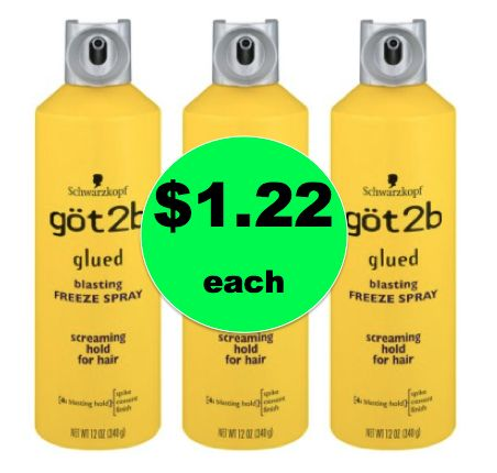Make Your Look Stay Put with $1.22 Got2b Glued Freeze Spray at Walmart! ~Ends Saturday!