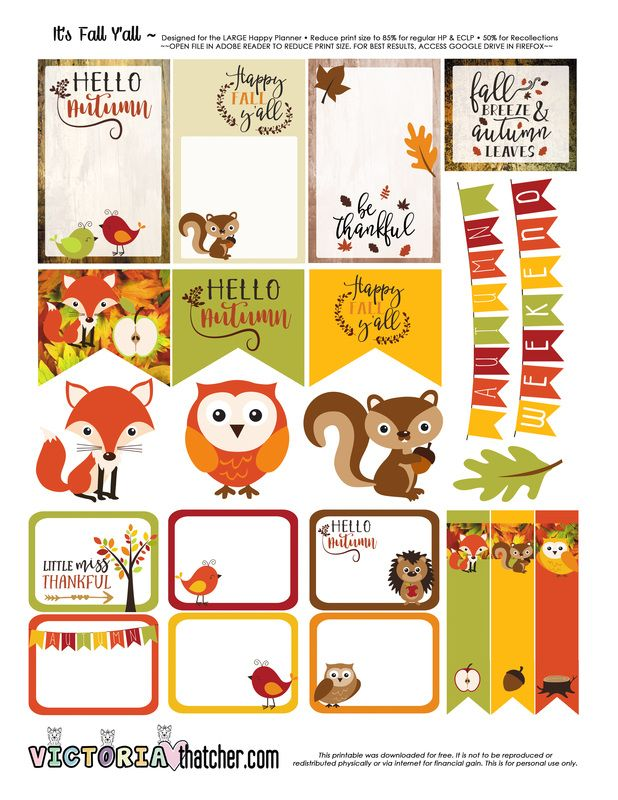 FREE Adorable Fall Planner Printable!