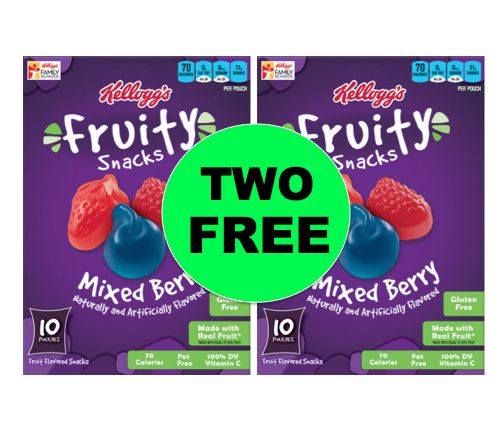 Stock Up with TWO (2!) FREE Kellogg's Fruity Snacks at Winn Dixie! ~Starts Wed!