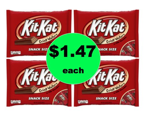 More Treats for Halloween! Hershey's Kit Kat Bagged Candy ONLY $1.47 Each at Walgreens! ~ Right Now!