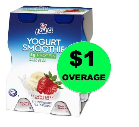 Delicious! FREE + $1 Overage LaLa Yogurt Smoothie 4-pack at Walmart! ~Right Now!