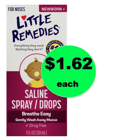 Unstuff Little Noses with Little Remedies Saline Spray/Drops ONLY $1.76 Each at Walmart! ~NOW!