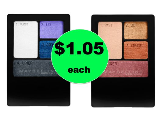 Get Maybelline Eyeshadow Quads ONLY $1.05 Each at Walgreens! ~ Right Now!