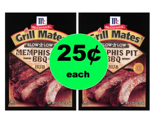 Get McCormick Grill Mates Seasoning ONLY 25¢ Each At Walmart! ~ NOW!
