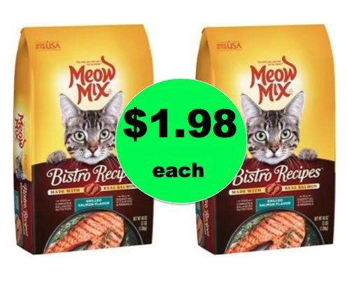 Kitties Eat CHEAP This Week! Meow Mix Cat Food ONLY $1.98 Each at Walmart! {Over 50% OFF!} ~ Right Now!